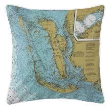 Nautical Chart Pillows Island Girl Fl Sanibel Island Pine Island Fl Nautical