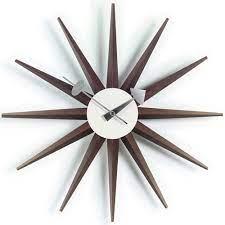 sunburst clock walnut vitra
