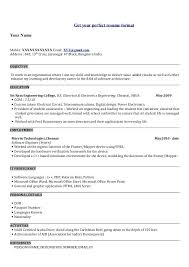Electrical Engineer Fresher Resume Sample 4 Get Your Perfect Resume