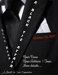 Black Flyer Backgrounds Black Tie Affair Flyer Template Postermywall