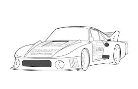 Coloriage Porsche Les Beaux Dessins De Transport Imprimer Et