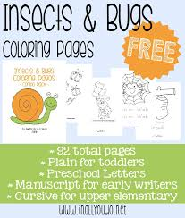 free insects bugs coloring pages