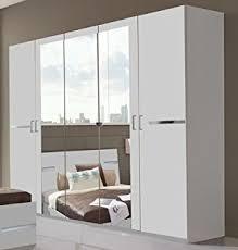 mirror effect furniture. Germanica BAVARI 5 Door White Wardrobe With 3 Mirrored Doors Lots Or Storage Space 225cm Width Mirror Effect Furniture D