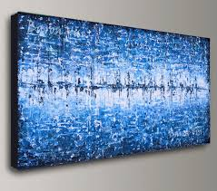 blue abstract canvas wall art