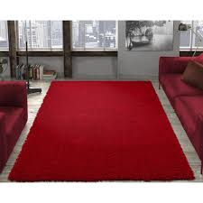ottomanson contemporary solid dark red 3 ft x 5 ft area rug shg2760 3x5 the home depot