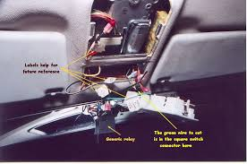 one touch sunroof open dei timer relay installation instructions stuff the wiring and generic relay into the switch opening up and over to the driver side sun visor area push sunroof switch assembly back into place
