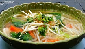 seafood noodle soup ...