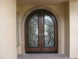 Rustic double front door Rustic White 0002 Custom Rustic Alder Wood Radius Entry Door With Iron Dandonche Rustic Door Gallery Global Entry Doors