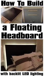 how to build led floating headboard bedroom led lighting ideas