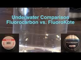 Underwater Comparison Fluorocarbon Fishing Lines vs. KastKing ...