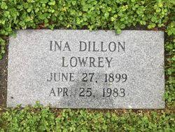 Ina V. Dillon Lowrey (1899-1983) - Find A Grave Memorial