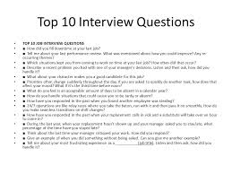 Last Interview Questions Interview Questions Top 10 Interview Questions Top 10 Job