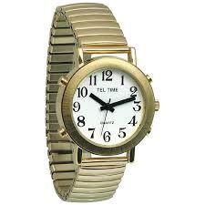 tel time men s talking watch mens gold talking watch