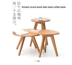 small side table solid wooden coffee table round small table simple sofa side margins one bedroom small round table side table in coffee tables from