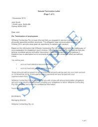 Termination Letter Serious Misconduct Free Template