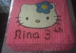 Resep Kue Ultah Hello Kitty Buttercream Transfer Oleh Mutiarisa