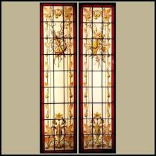 painting on glass windows hand painted stained glass painting glass windows removable