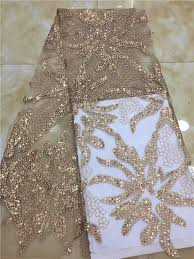 <b>Wholesale</b> nigerian <b>lace</b> fabrics gold <b>white</b> embroidered <b>lace</b> trim ...