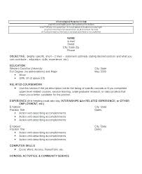 Chronological Order Resume Example Chronological Order Resume