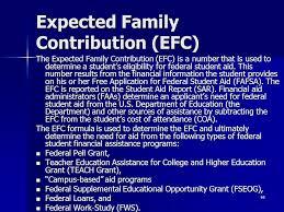 Efc Score Chart 2017 Estimated Expected Family Contribution Efc Chart