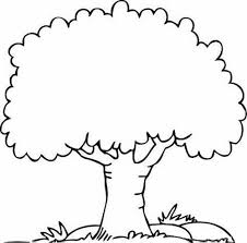 Small Picture Coloring Pages Of Tree Cartoon Trees Tree Color Sheet