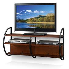 Floating Tv Stand Amazoncom Leick Home Floating Wall Mounted Tv Stand Medium Oak