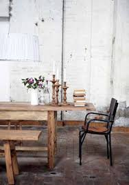 wooden table with benches from house doctor