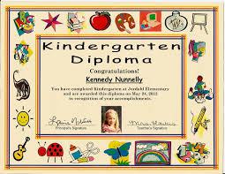 Kindergarten Graduation Certificate Of 1 Certificate Pre School