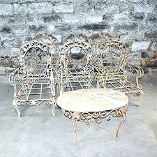vintage iron patio furniture. Vintage Patio Furniture For Sale Awesome Metal Outdoor Wrought Iron Set D