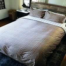plaid duvet cover covers thread experiment brown navy traditional set for men latest twin flannel queen