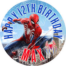 Spiderman Edible Cake Topper Archives Edible Cake Toppers Ireland