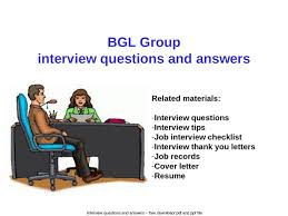 group interview questions bgl group interview questions and answers ppt powerpoint
