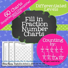 Fill In Fraction Number Charts Counting By 1 2 1 3 1 4 1 5 1 6 1 8 1 10