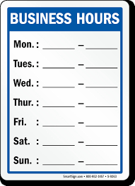 Business Hours Template Microsoft Word Business Hours