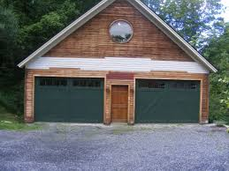image of steel barn style garage doors