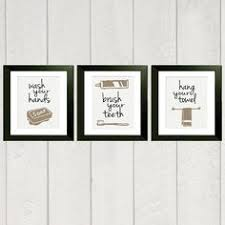 bathroom art print set of 3 8x10 by deliveredbydanielle on etsy 32 00 on wall art set of 3 bathroom with bathroom art prints wash your hands brush your teeth children s