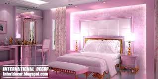Interior Design Bedroom Pink Contemporary Bedroom Design Ideas With Pink  Lighting And Luxury Interior Design Ideas