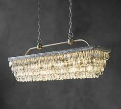 new pottery barn clarissa crystal drop rectangular chandelier 30 retail