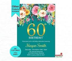 Template Invitations For 60th Birthday Party Templates Invitation