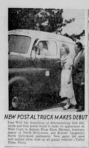 Ivan Wolf drives the new version of postal truck - Newspapers.com