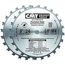 dado blade lowes. cmt 230.524.08 precision dado set, 8-inch x 24 teeth ftg+ blade lowes -