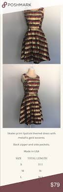 Lipstick Goals Dress See Picture For Description And Size