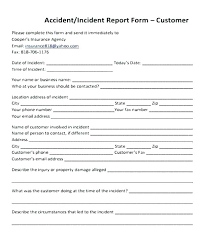 Safety Incident Report Template Safety Incident Report Template Free