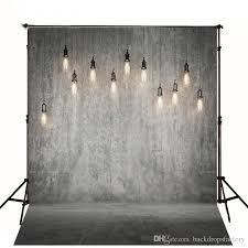 gray solid wall backdrop wedding bright hanging light bulbs vintage photography backdrops studio photo booth wallpaper prop stone wall backdrop stone wall