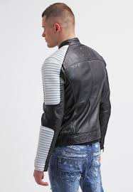 be edgy max leather jacket white black men leather jackets edgy black