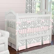 solid navy crib bedding pink and gray traditions crib bedding