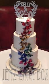 3 Tier Butterfly Wedding Cake 475 Jemz Cake Box3 Tier Butterfly