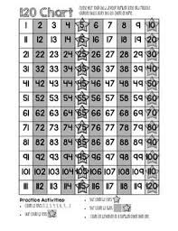 Counting Chart By Tens To 120 120 Chart For Homework Folder Six Different Charts Plus