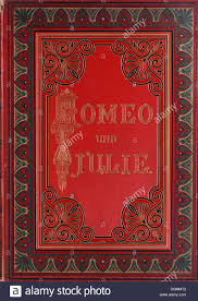 book cover with gold embossed letters and ornamentation romeo and juliet by shakespeare edition from 1890