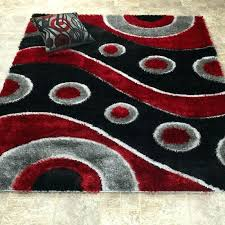 red and black area rug gy wave white rugs